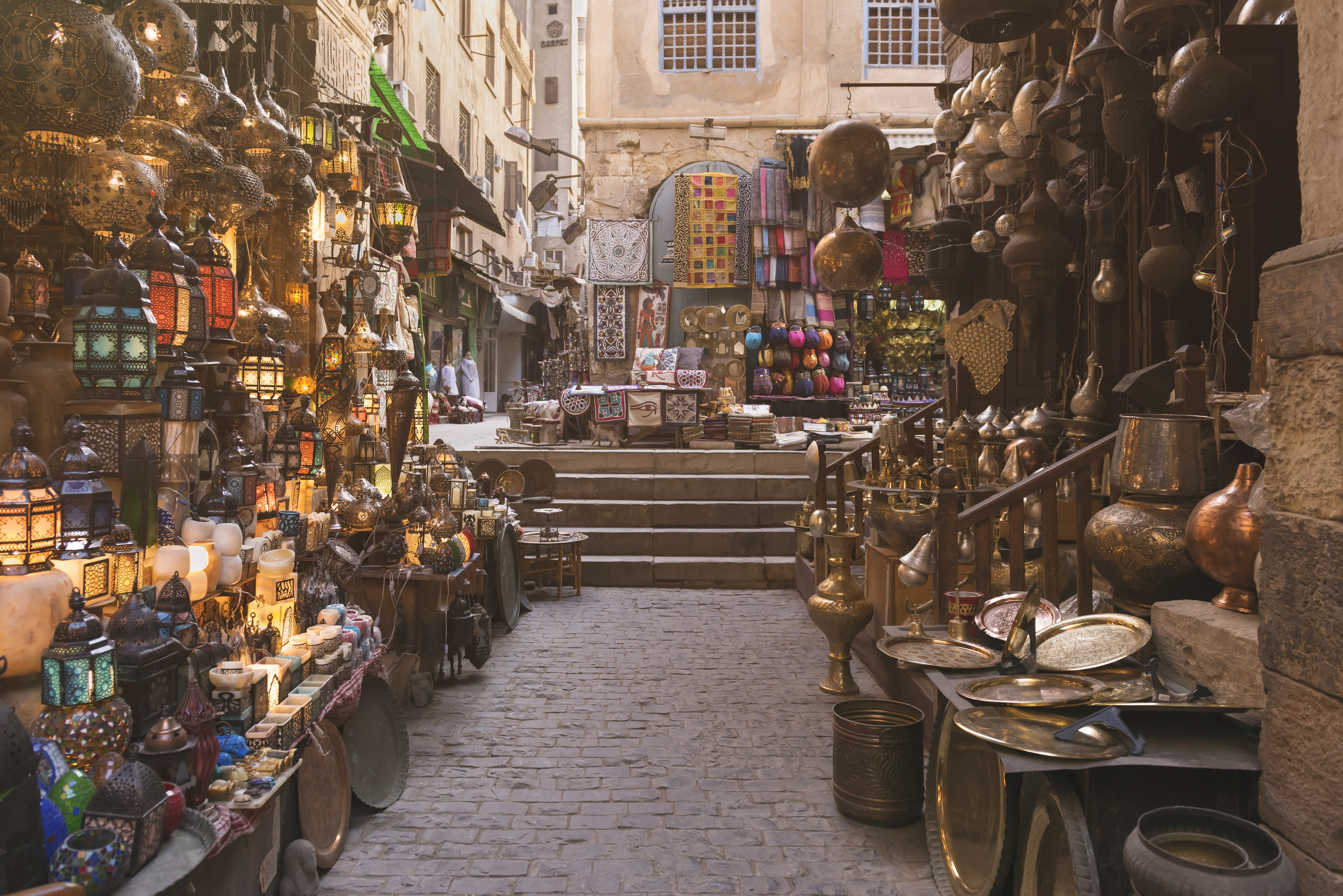 An Arab souq, or marketplace.