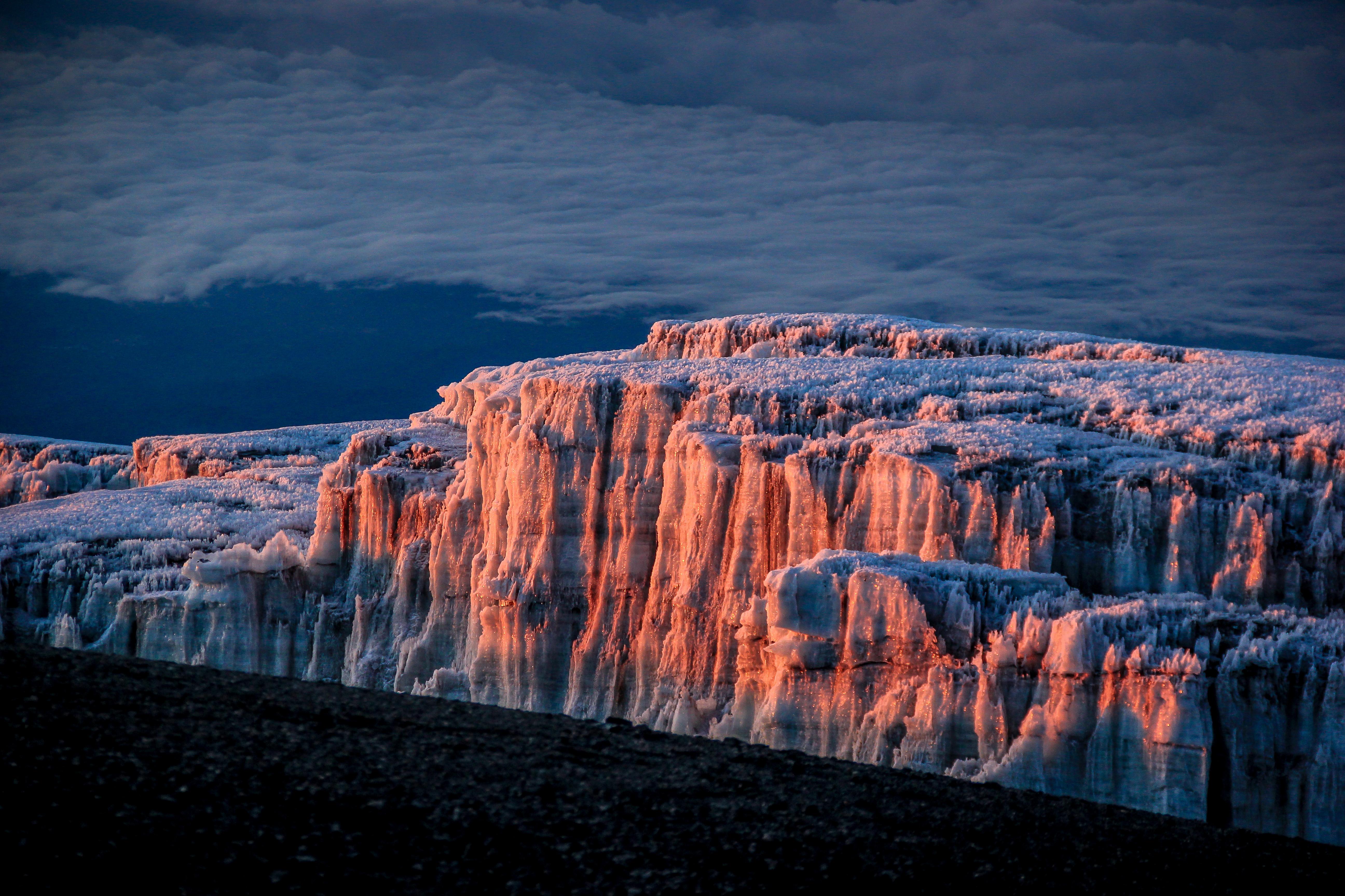 Southern Ice Field on Kilimanjaro