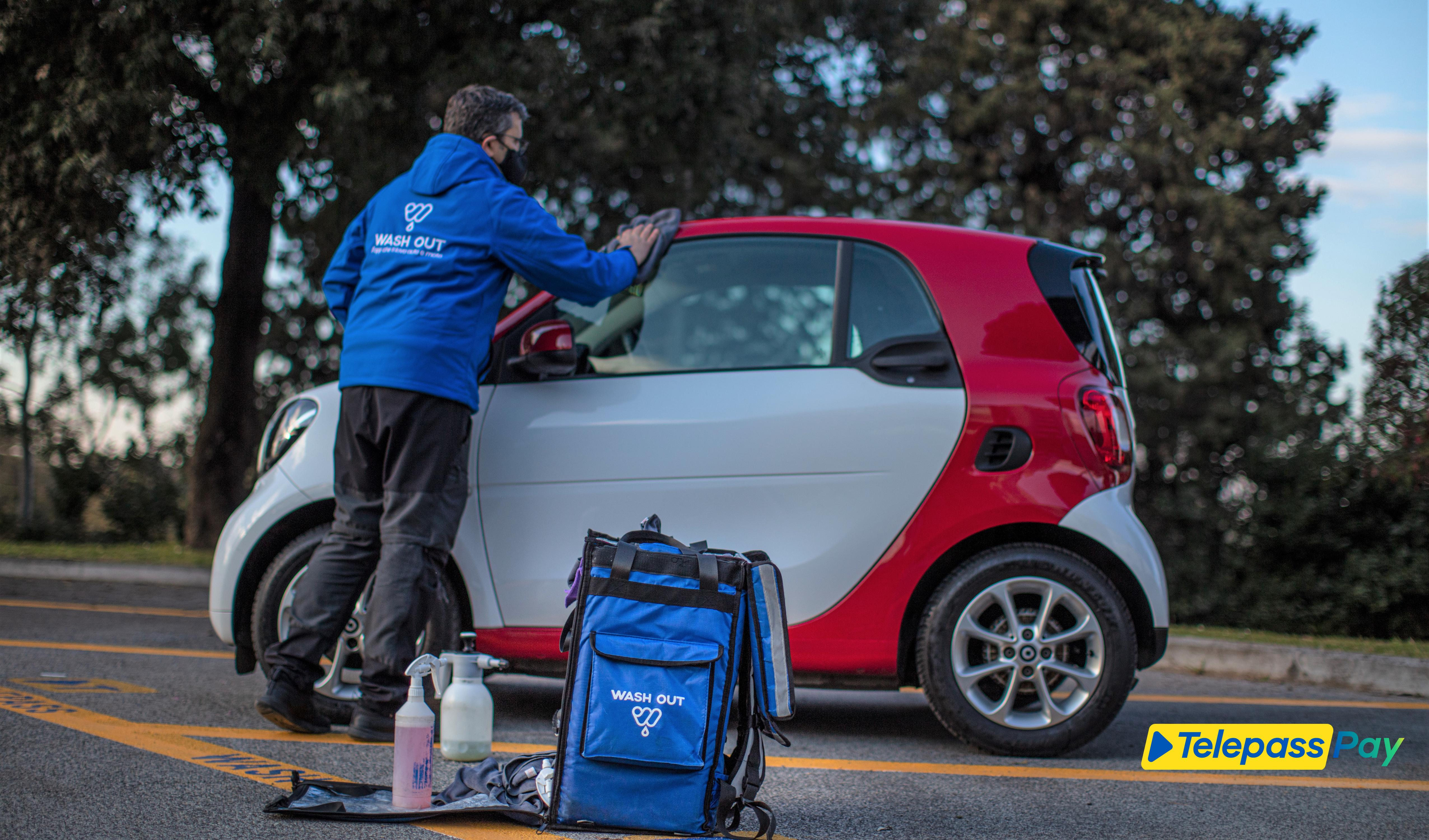 Con Telepass Pay e Wash Out il lavaggio dell'auto diventa più sostenibile