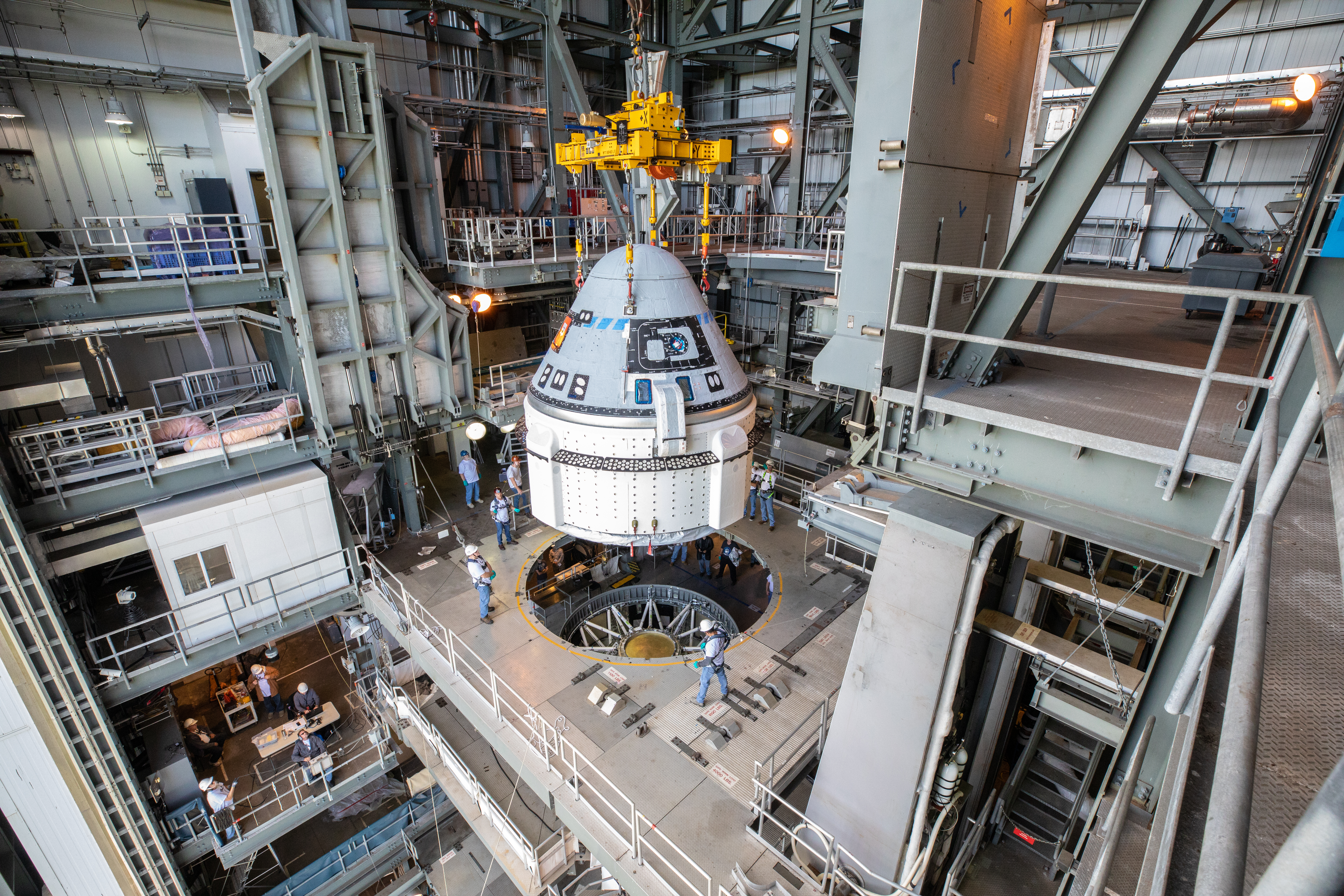 The other private space capsule: Boeing's CST-100 Starliner had a rocky unpiloted test last December, but could soon be flying with a crew. (Credit: NASA/Cory Huston)