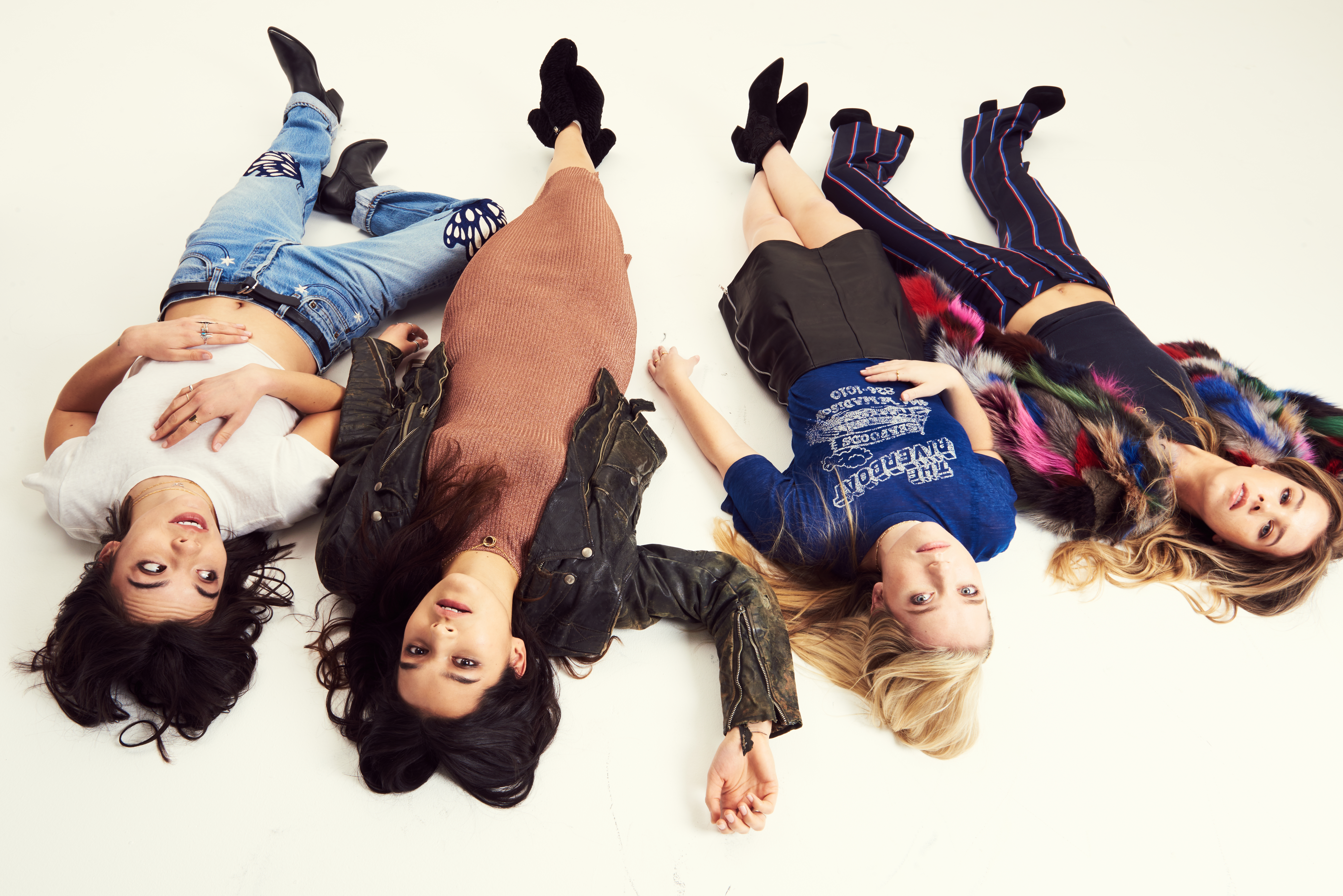 The Aces band photo lying on floor