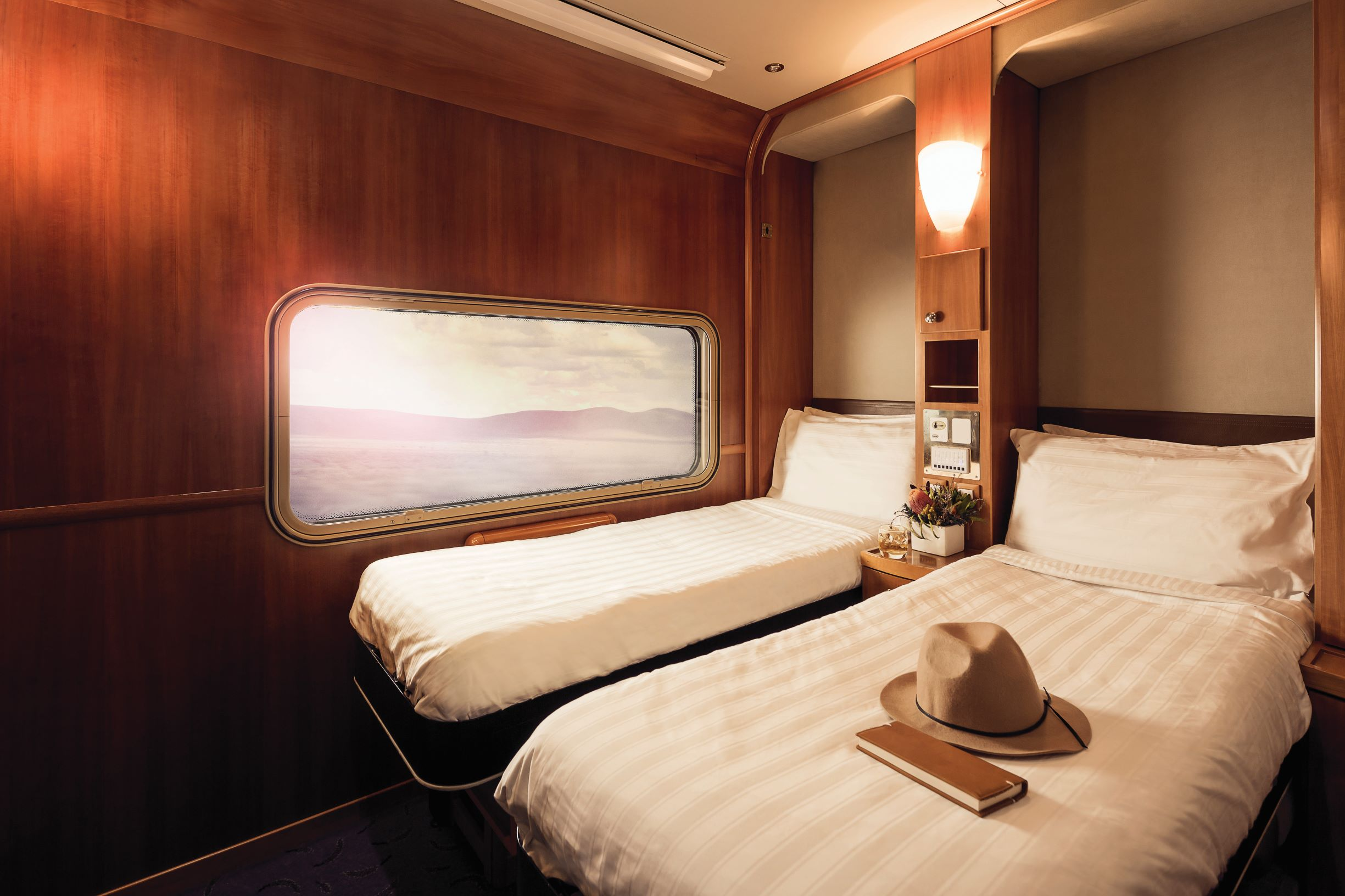 Platinum Service Twin Cabin by night
