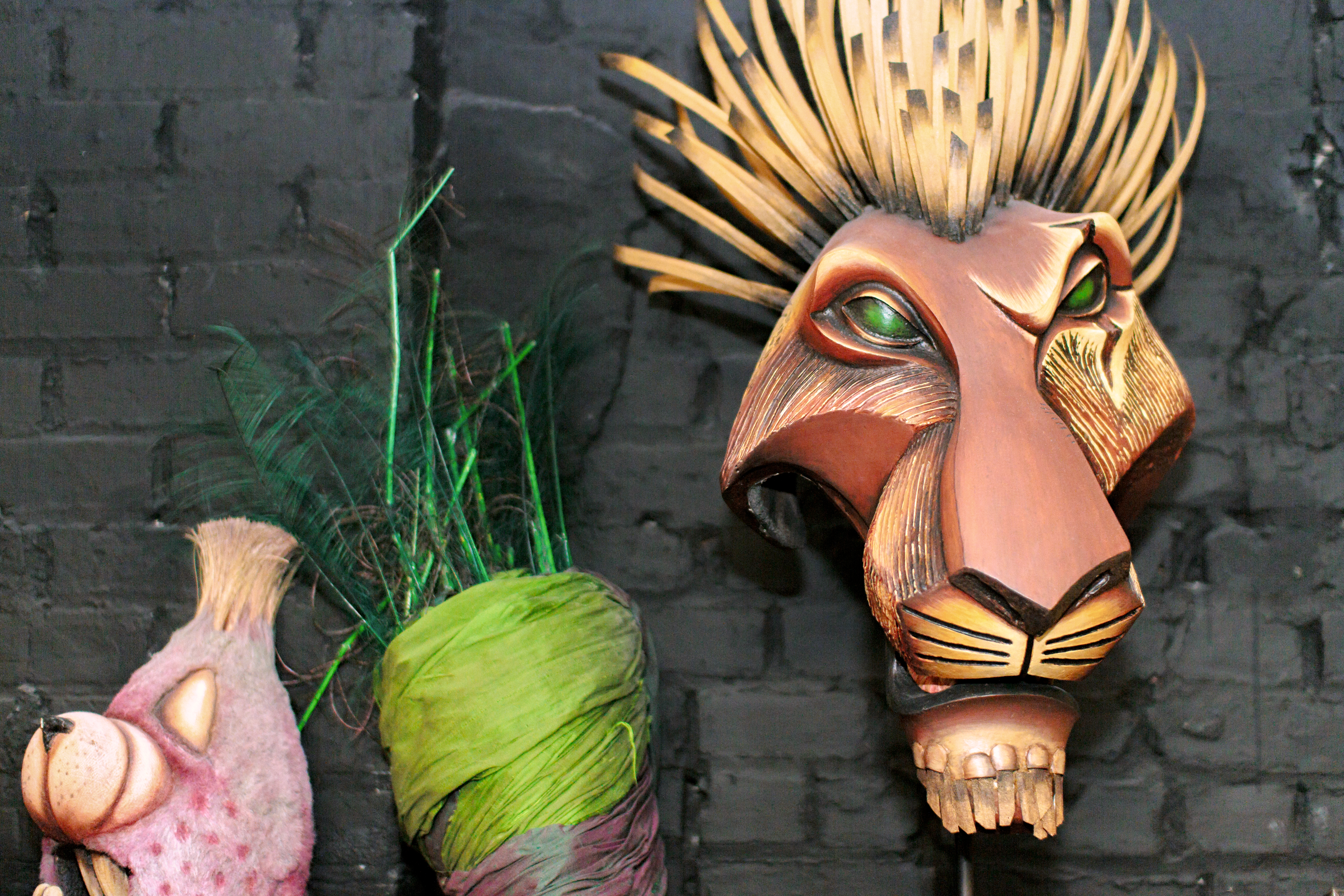 Scar from the Lion King is a favorite prop for many of our young visitors